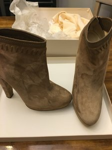 Jimmy Choo Suede Stitching Detail Blonde Boots