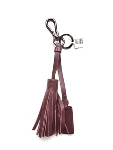Tumi Noho Leather Tassel Key FOB by Tumi in Merlot Burgundy