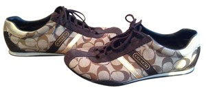 Coach Sneakers Leather Brown Athletic
