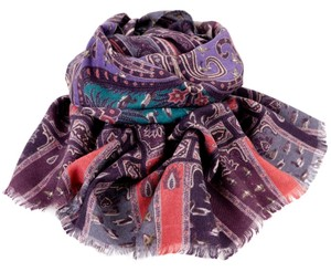 Etro CASHMERE AND SILK ORIENTAL SCARF