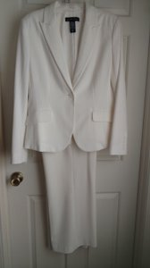 New York & Company Ivory Pantsuit /Gold thread pinstripe