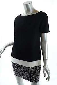 Giambattista Valli short dress Black and White Wool Blend on Tradesy