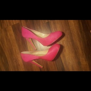 INC International Concepts Pink Heel Heels Hot Pink Pumps