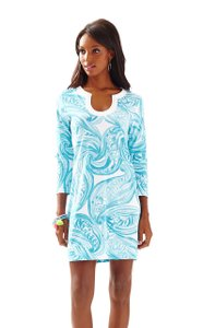 Lilly Pulitzer short dress Blues & White Cotton Shift on Tradesy