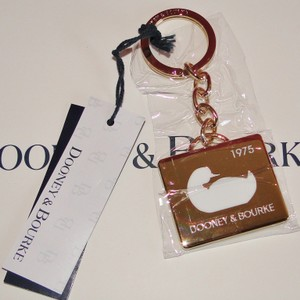Dooney & Bourke Duck 1975 Gold Tone Keyring/ Key Chain