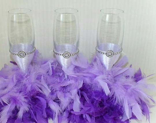 Feather Toasting Glasses
