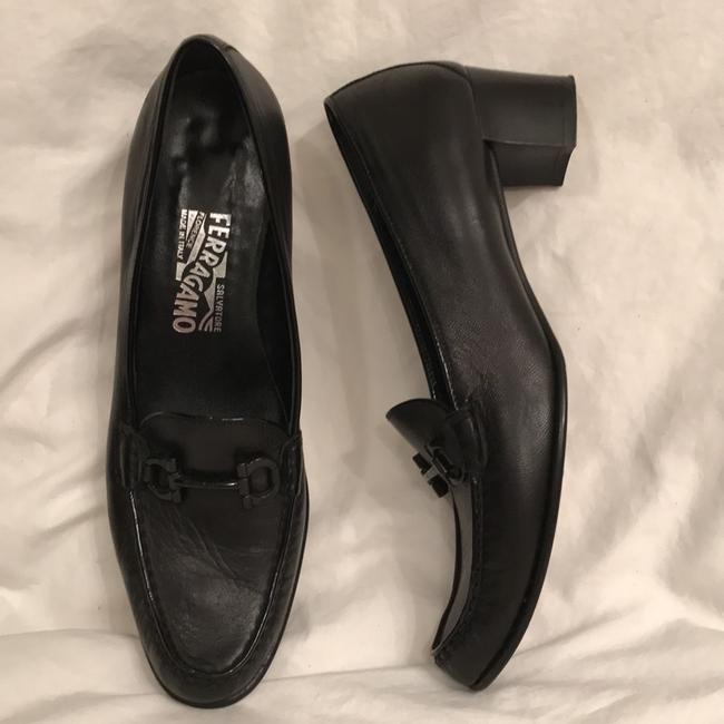 Item - Black Leather Horsebit Loafers Moccasins Pumps Size US 9 Narrow (Aa, N)