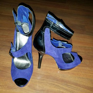 Bakers Cobalt Blue & Black Pumps