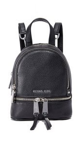 MICHAEL Michael Kors Rhea Leather Black Messenger Bag