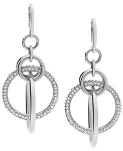 Michael Kors Michael Kors Pave Crystal Orbital Drop Earrings Silver-tone