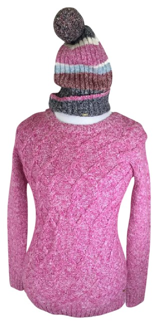 Preload https://img-static.tradesy.com/item/20512237/tommy-hilfiger-7664756tommy-women-s-cable-knit-marled-beanie-rose-violet-sweater-0-1-650-650.jpg