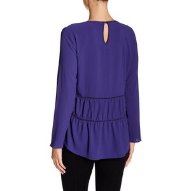 Harlowe & Graham Tiered Ruffle Hi-lo Cut-out Top periwinkle Image 1