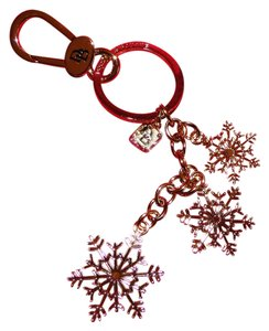 Dooney & Bourke Snow Flake Gold Tone Key Ring/ Chain FOB
