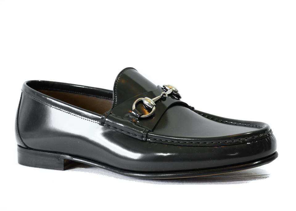 9c226e3eb Gucci Gray Horsebit 387598 Men's Brushed Leather Leather Loafer Formal Shoes.  Size: US 11.5 Regular ...