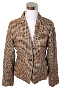 J.Crew Robert Noble Herringbone Brown Blazer