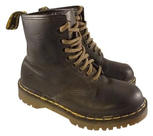 Dr. Martens Leather Chunky BLACK Boots