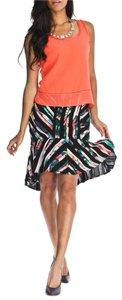 Nicole Miller Silk Mini Skirt Multi-Color