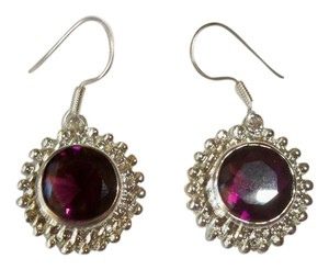 Silver Co. Gorgeous African Amethyst Silver Earrings