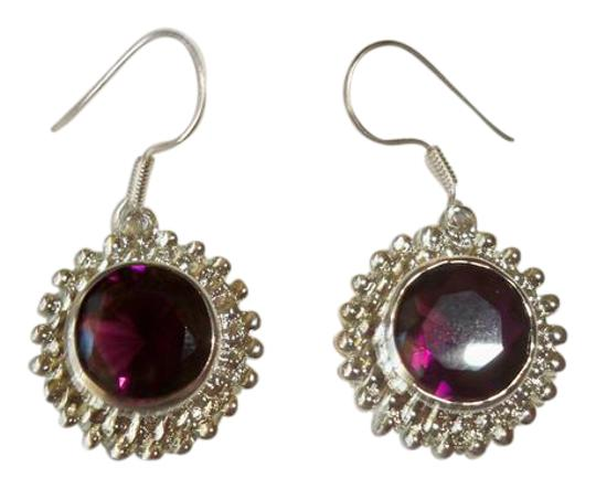 Silver Co. Gorgeous African Amethyst Silver Earrings Image 0