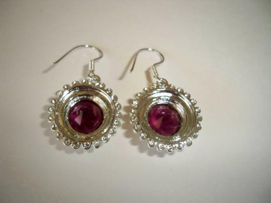 Silver Co. Gorgeous African Amethyst Silver Earrings Image 1