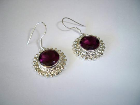 Silver Co. Gorgeous African Amethyst Silver Earrings Image 2