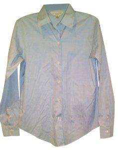 Casual Corner Button Down Shirt Blue