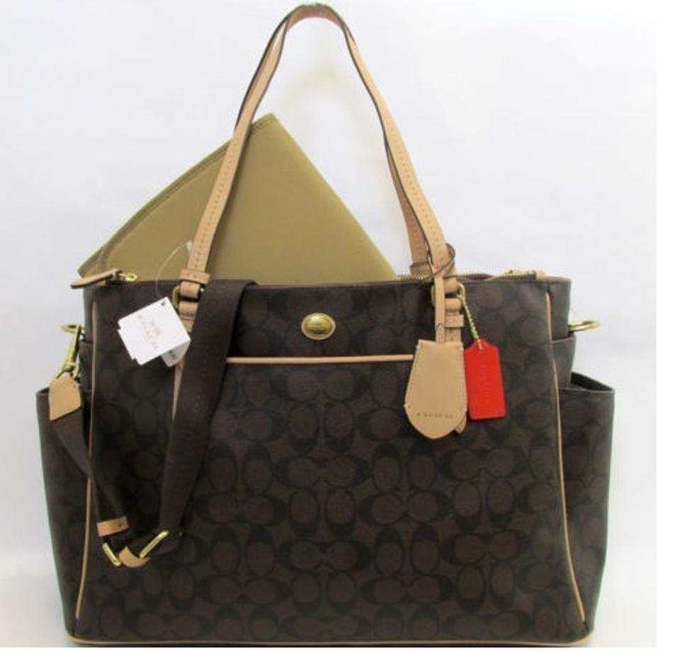 6288d210 Coach Peyton Signature Multifunction Tote And Brown Pvc Diaper Bag 45% off  retail