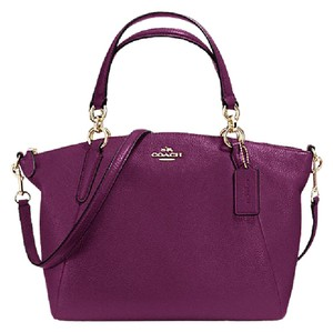 Coach Kelsey Leather Small Satchel in Plum