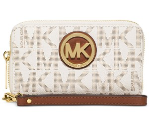 Michael Kors Michael Kors Fulton Flat Multifunction Large Phone Case Vanilla Wallet