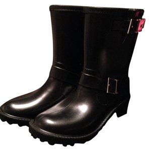 Michael Kors Rubber Leather Black Boots