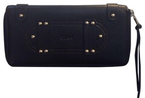Chloé Chloe Black Leather Zip Around