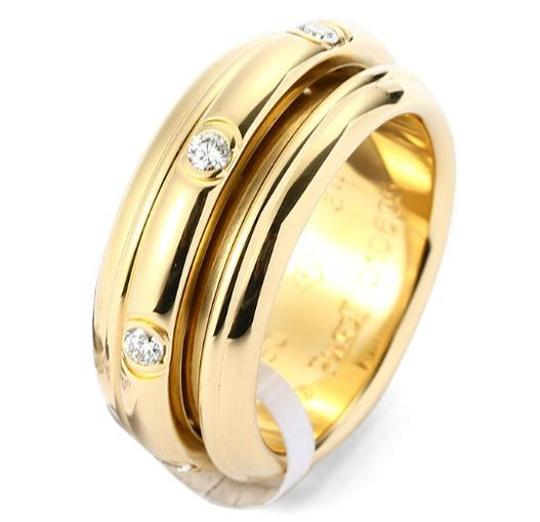 Piaget 18K Yellow Gold movable Ring with 7 Diamonds Image 1