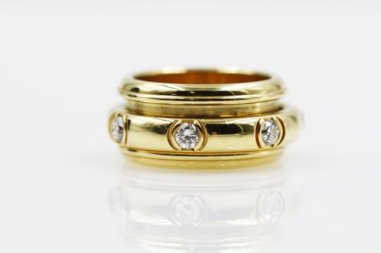 Piaget 18K Yellow Gold movable Ring with 7 Diamonds Image 3