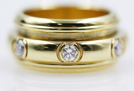 Piaget 18K Yellow Gold movable Ring with 7 Diamonds Image 6