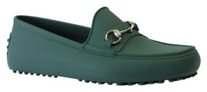 Gucci Loafers Men's Men's Loafer 386586 Driver Green Formal