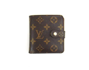 Louis Vuitton Zippy Compact Monogram Canvas Leather Bifold Snap Wallet