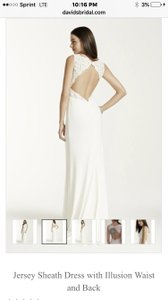 DB Studio Jersey She At With Illusion Waist And Back Wedding Dress