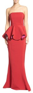 Maria Bianca Nero Preplum Gown Color-blocking Dress