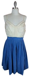 Anthropologie short dress Blue, White Color-blocking on Tradesy