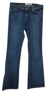 Express Slim Fit Like New Low Rise Flare Leg Jeans-Dark Rinse