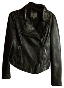 Muubaa Classic Yummy Leather Black Jacket