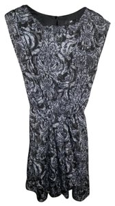 H&M short dress Black and gray Print on Tradesy