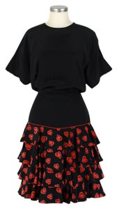 Escada short dress black & red on Tradesy