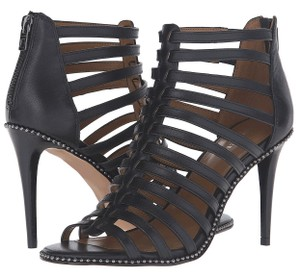 Coach Leather Gladiator Cage Black Pumps