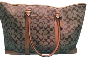 Coach Dark and Light Brown Travel Bag