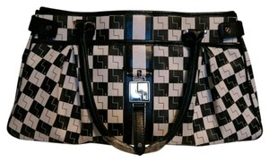 L.A.M.B. Satchel in Black & White Checkered