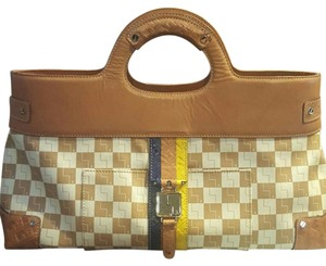L.A.M.B. Satchel in Checkered Camel