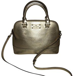 Kate Spade Satchel in champagne platinum