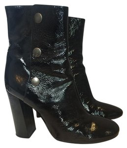 Chlo Vintage Patent Leather Black Boots