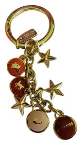 Coach NEW! Coach Star and Lozenge Charm Key Chain 63495